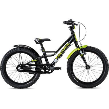 """Vélo Enfant S'COOL FAXE Alu 1V 18"""" Noir/Jaune 2020"""
